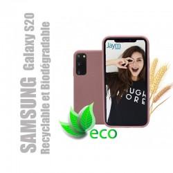 Coque souple 100% Biodégradable et recyclable pour Samsung Galaxy S20 - Rose