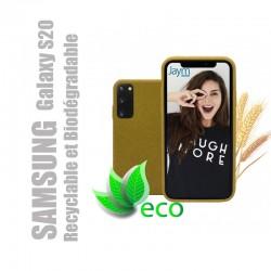 Coque souple 100% Biodégradable et recyclable pour Samsung Galaxy S20 - Jaune