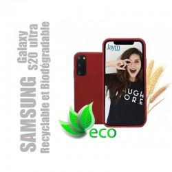 Coque souple 100% Biodégradable et recyclable pour Samsung Galaxy S20 ultra - Rouge