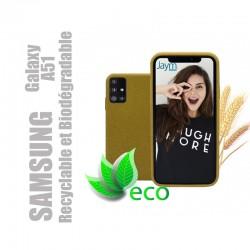 Coque souple 100% Biodégradable et recyclable pour Samsung Galaxy A51 - Jaune