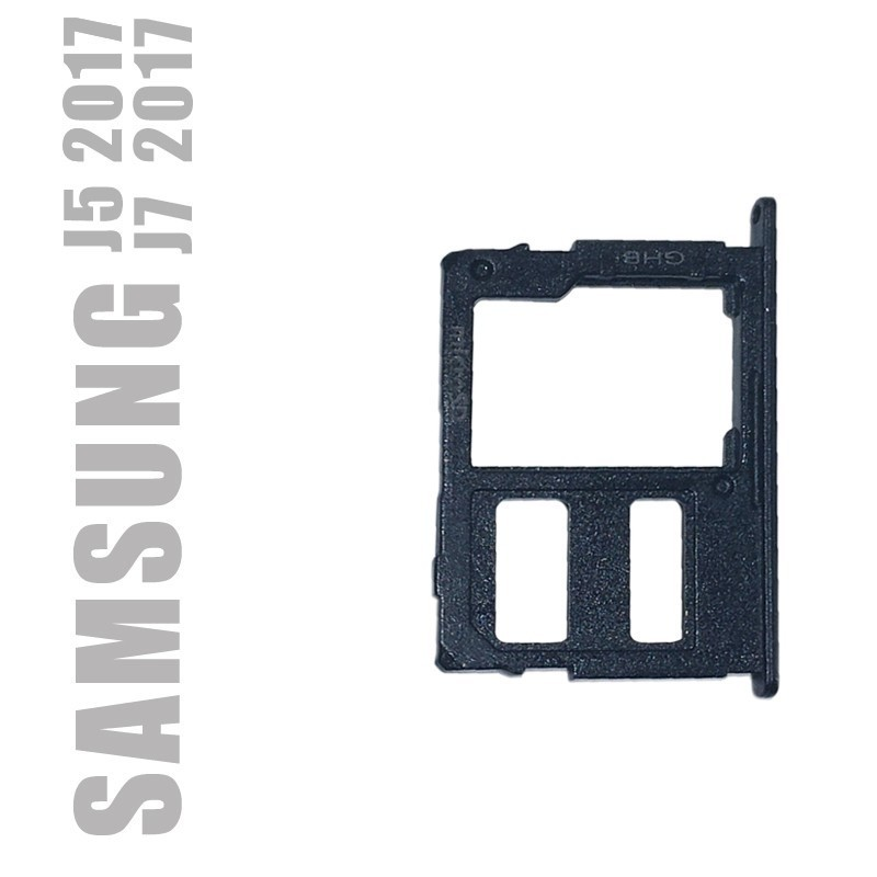 Tiroir carte SD avec blocage de la dual sim pour Samsung Galaxy J3 et J7 2017