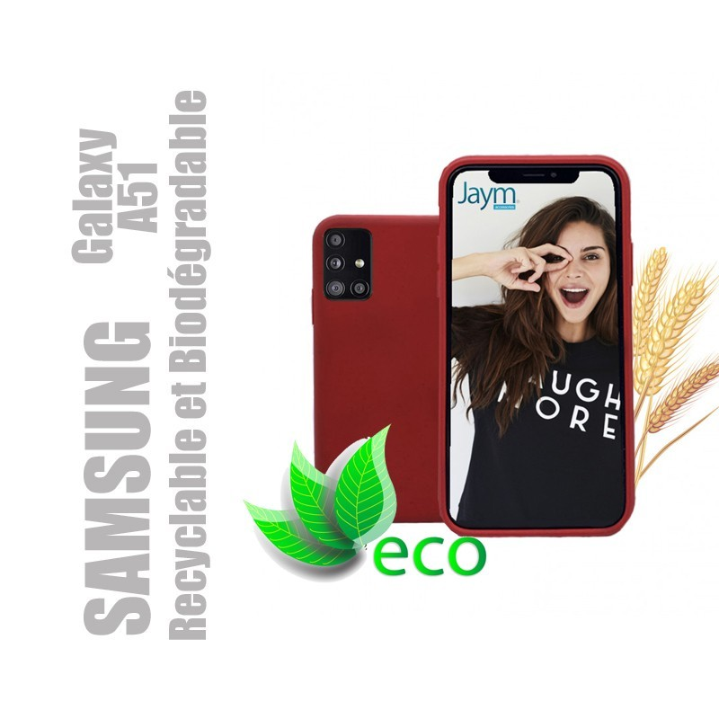 Coque téléphone 100 % recyclable et biodégradable pour Samsung Galaxy A51