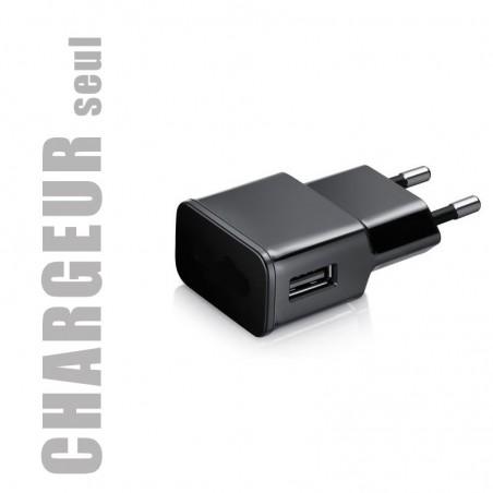 Chargeur secteur seul pour smartphones et tablettes (vendu sans câble USB)