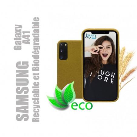 Coque souple 100% Biodégradable et recyclable pour Samsung Galaxy A41 - Jaune