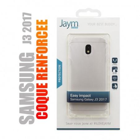Coque de protection renforcée en gel silicone transparent pour Samsung J3 2017