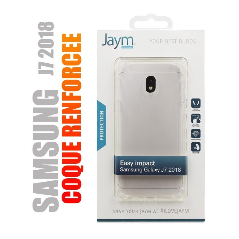 Coque de protection renforcée en gel silicone transparent pour Samsung J7 2018