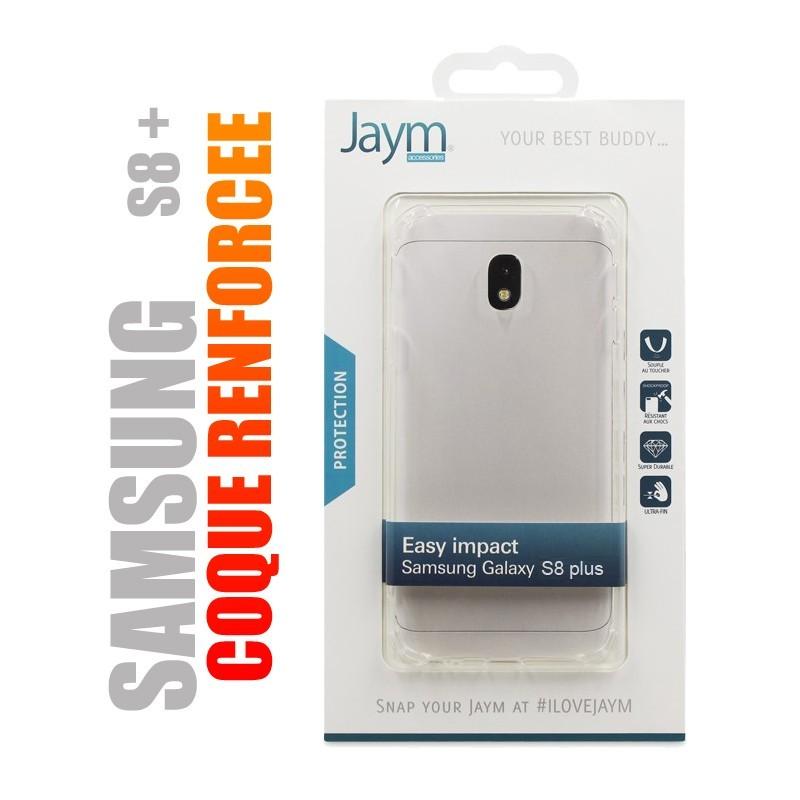 Coque de protection renforcée en gel silicone transparent pour Samsung S8 plus