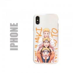 Coque de protection pour iphone en gel silicone souple et au motif Naruto Uzumaki