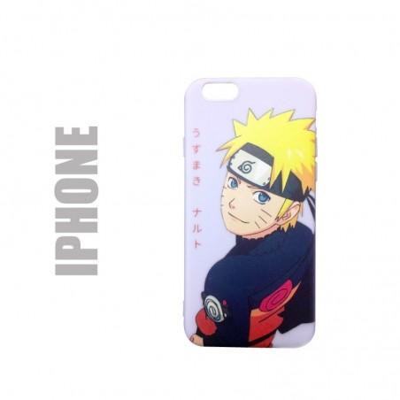 Coque de protection pour iphone en gel silicone souple et au motif Naruto Japan