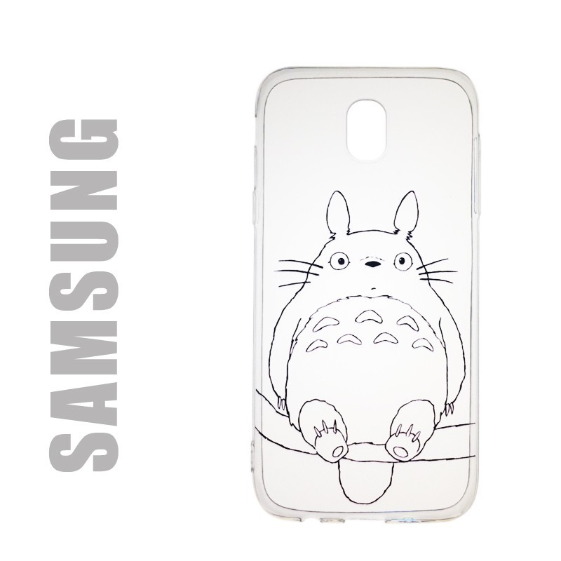 Coque de protection pour smatphones Samsung en gel silicone souple et au motif Totoro