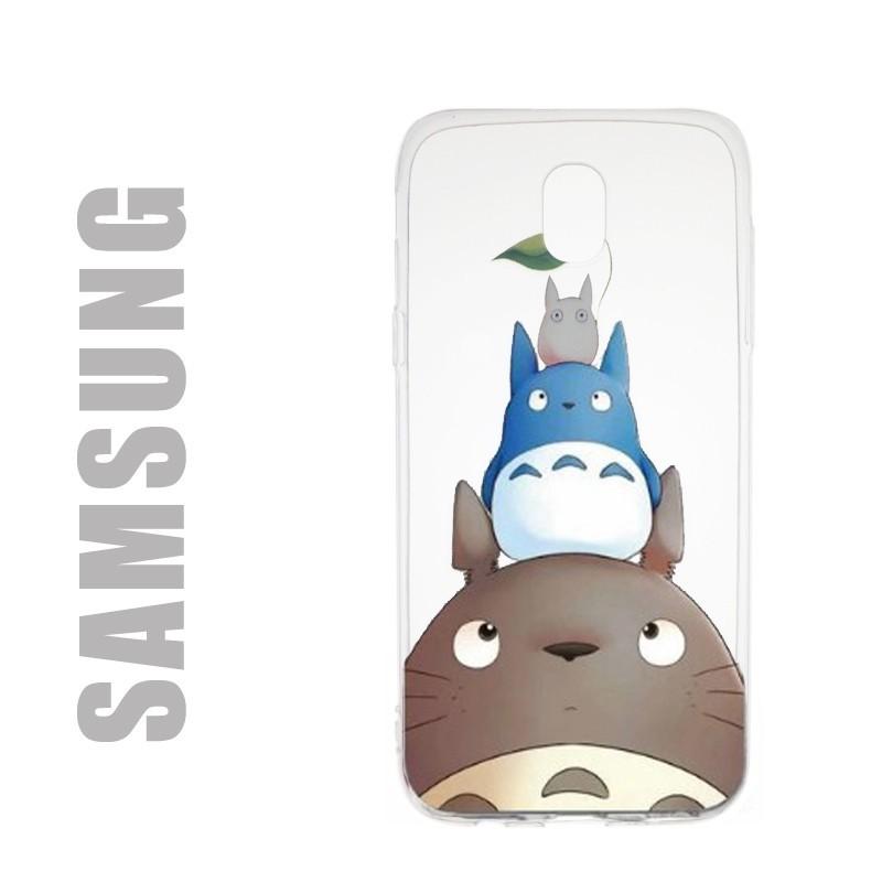 Coque de protection pour smatphones Samsung en gel silicone souple et au motif Totoro Family