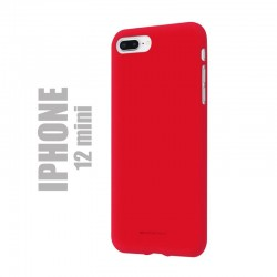 "Coque premium ""soft feeling"" pour iPhone 12 mini - rouge"