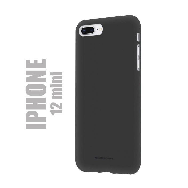 "Coque premium ""soft feeling"" pour iPhone 12 mini - noire"