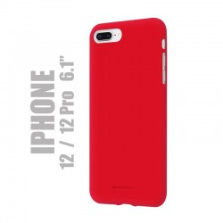 "Coque premium ""soft feeling"" pour iPhone 12 et 1é Pro - Rouge"
