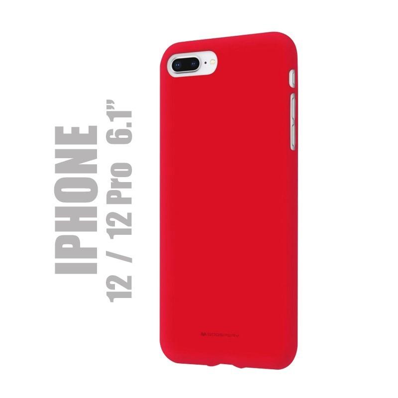 """Coque premium """"soft feeling"""" pour iPhone 12 et 1é Pro - Rouge"""