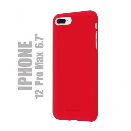 "Coque premium ""soft feeling"" pour iPhone 12  pro max - Rouge"