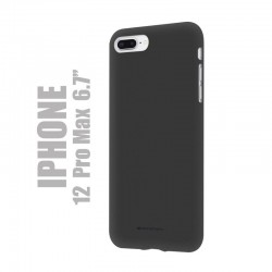 "Coque premium ""soft feeling"" pour iPhone 12  pro max - Rouge"