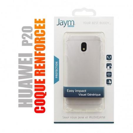 Coque de protection renforcée en gel silicone transparent pour Huawei P20