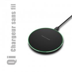 Chargeur sans fil à induction, norme Qi compatible avec tout smartphone équipé de la fonction de chargement sans fil Qi