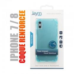Coque de protection renforcée en gel silicone bleu transparent pour iPhone 7 et 8