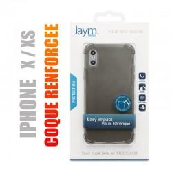 Coque de protection renforcée en gel silicone transparent gris fumé pour iphone X / Xs