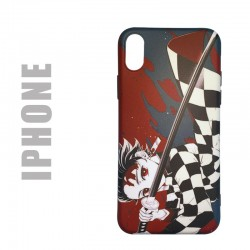 "Coque manga souple pour iphone, motif Demon Slayer ""Katana"""
