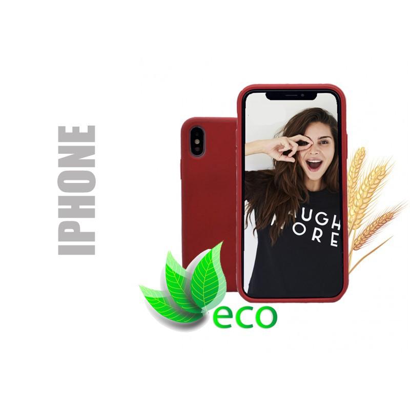 Coque téléphone 100 % recyclable et biodégradable - iphone - Rouge