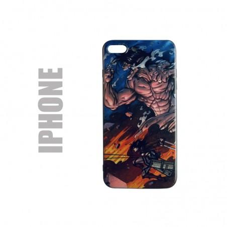 Coque manga pour iphone en gel silicone souple et au motif l'attaque des titans