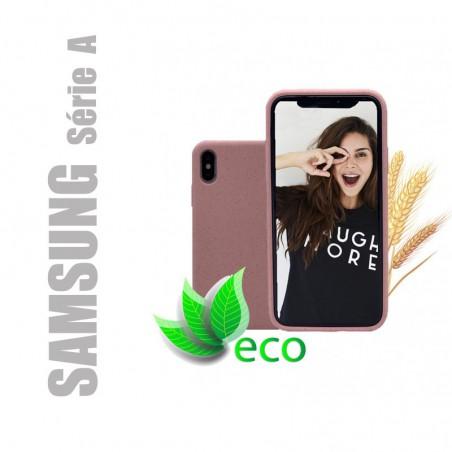 Coque téléphone 100 % recyclable et biodégradable - Rose - Compatible Samsung Galaxy Série A