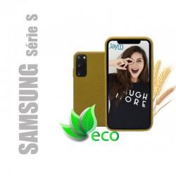 Coque souple 100% Biodégradable et recyclable pour Samsung Galaxy Série S - Jaune