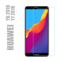 Protection d'écran en verre trempé pour smartphones Huawei  Y6 et Y7 2018