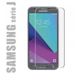 Protection d'écran en verre trempé pour smartphone Samsung Galaxy Série J