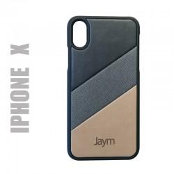 """Coque de protection rigide cuir et daim, collection """"La French"""" compatible avec l'iphone X"""