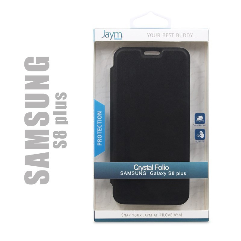 Etui de protection Crystal folio compatible avec smartphone Samsung Galaxy S8 plus