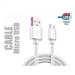 Cable de chargement et de transfert de données. Micro USB longueur 1,50 m.