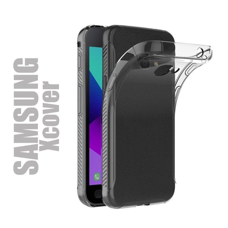 Coque de protection en gel silicone transparent pour Samsung Série XCover