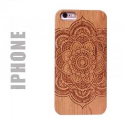 Coque de protection en bois pour smartphone Apple iphone