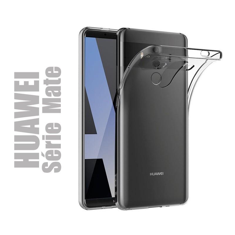 Coque souple en gel silicone transparent pour smartphone Huawei Série MATE