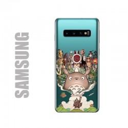 Coque de protection pour smartphones Samsung en gel silicone souple et à l'effigie des personnages du studio Ghibli