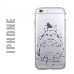 Coque de protection pour iPhone en gel silicone souple et au motif Totoro