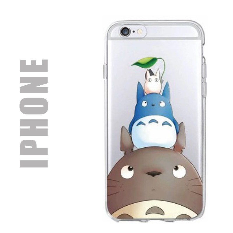 coque gel silicone souple totoro family pour iphone