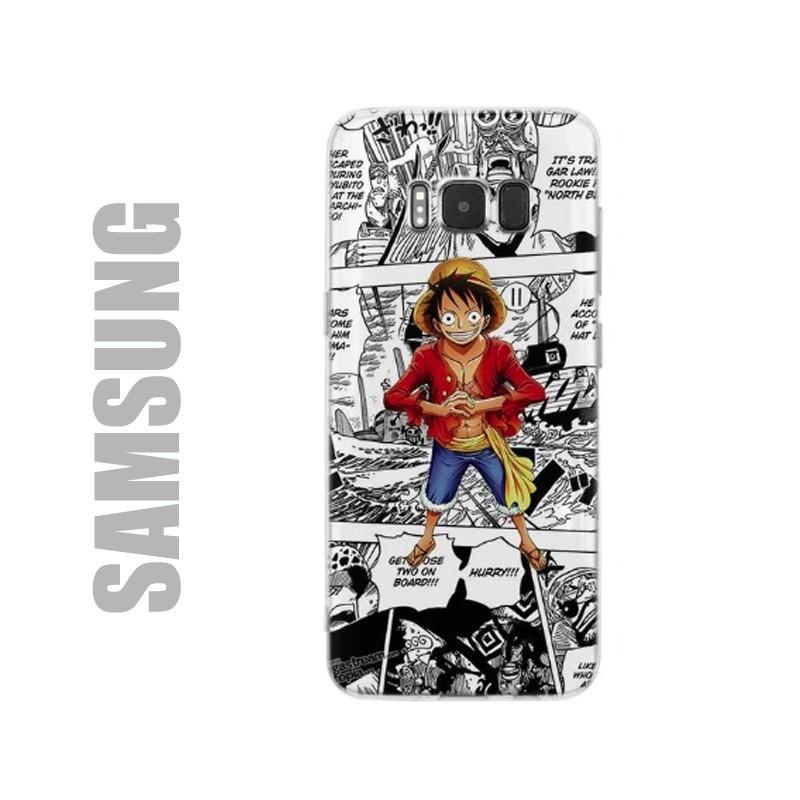 Coque de protection pour smartphones Samsung en gel silicone souple au motif One Piece