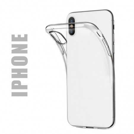 Coque de protection en gel silicone transparent pour iPhone