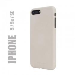 "Coque premium ""soft feeling"" pour Apple iPhone 5 / 5S / SE - beige"