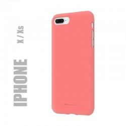 """Coque premium """"soft feeling"""" pour iphone X / Xs - rose"""