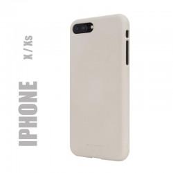 "Coque premium ""soft feeling"" pour iphone X / Xs - beige"