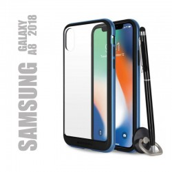 Coque rigide premium - X-Bumper bleue pour Samsung Galaxy A8 2018