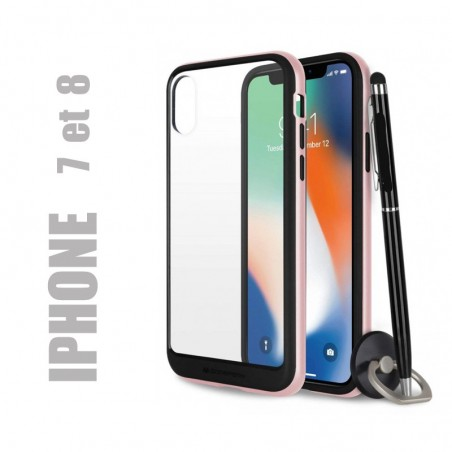 Coque rigide premium - X-Bumper or rose pour iphone 7 et 8