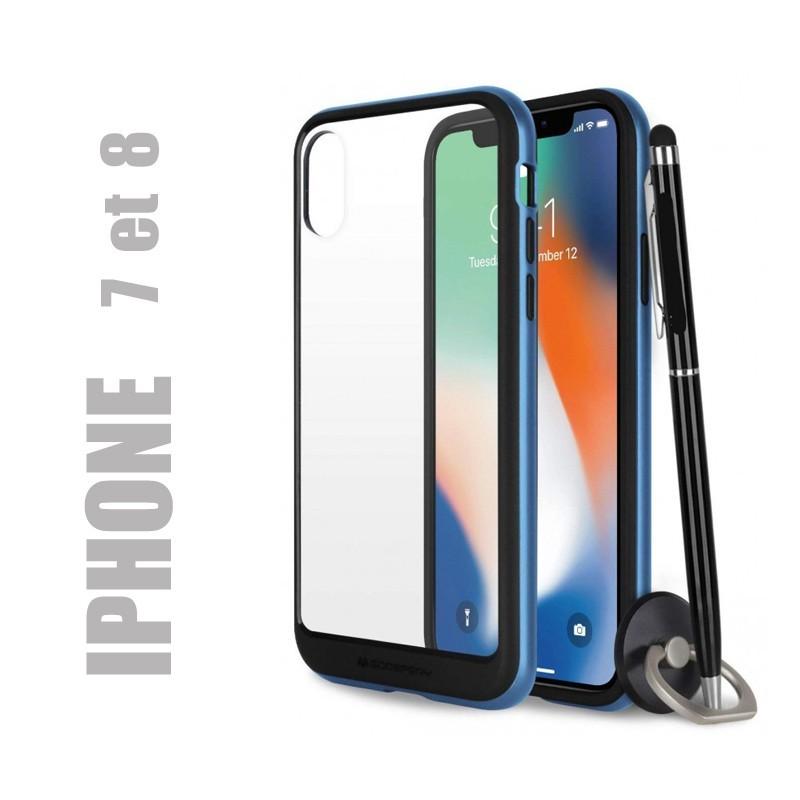 Coque rigide premium - X-Bumper bleue pour iphone 7 et 8