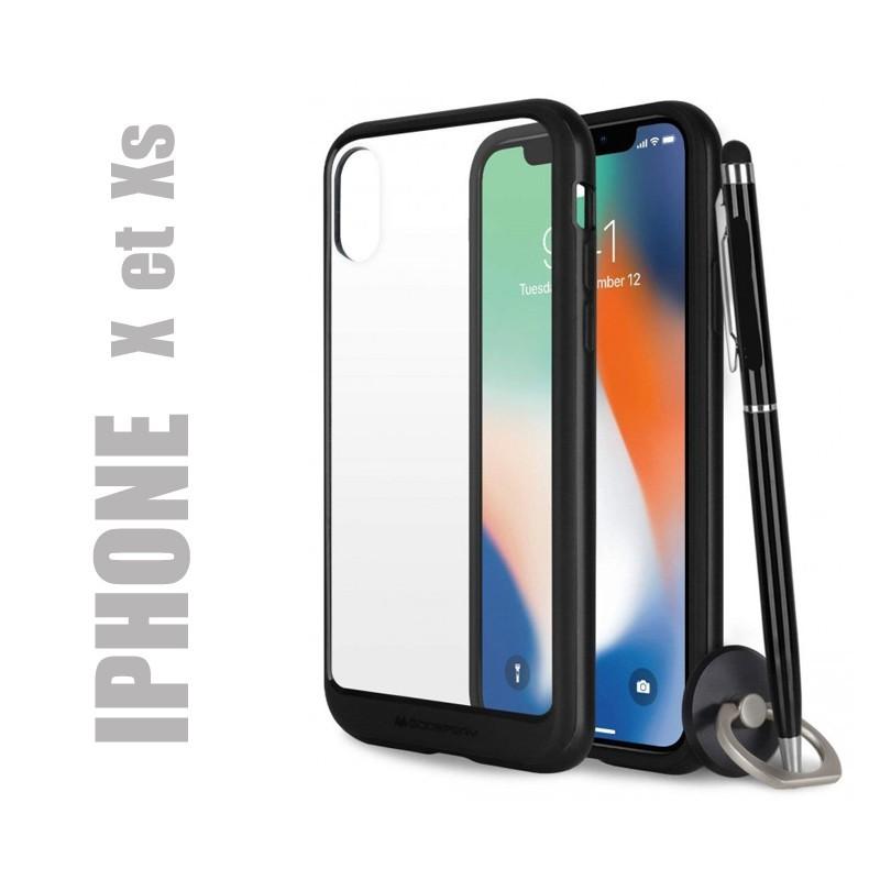 Coque rigide premium - X-Bumper noire pour iphone X et Xs